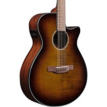 Ibanez AEG70 Grand Concert Acoustic/Electric Guitar Flamed Maple Top Tiger Burst High Gloss