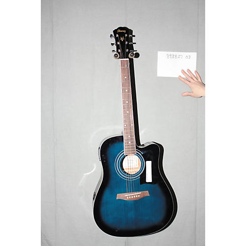 Used Ibanez V70CE Acoustic-Electric Guitar Transparent Blue