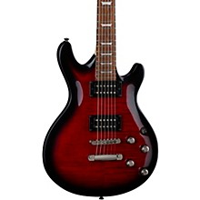 Icon X Flame Top Electric Guitar Transparent Red