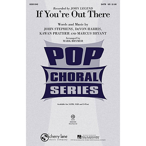 Hal Leonard If You're Out There ShowTrax CD by John Legend Arranged by Mark Brymer