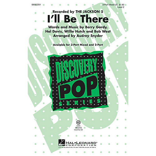 Hal Leonard I'll Be There (Discovery Level 2) 3-Part Mixed by Michael Jackson arranged by Audrey Snyder