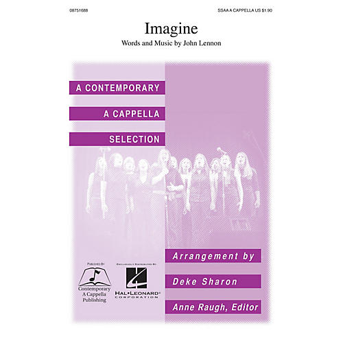 Contemporary A Cappella Publishing Imagine SSAA A Cappella by John Lennon arranged by Deke Sharon