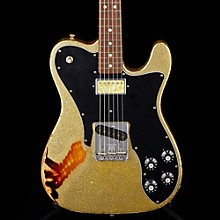 Imperial Arc 1972 Telecaster Custom Masterbuilt by Paul Waller, Rosewood Gold Sparkle over 3-Color Sunburst