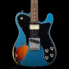 Imperial Arc 1972 Telecaster Custom Masterbuilt by Paul Waller, Rosewood Lake Placid Blue over 3-Color Sunburst