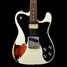 Imperial Arc 1972 Telecaster Custom Masterbuilt by Paul Waller, Rosewood Olympic White over 3-Color Sunburst