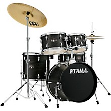 Imperialstar 5-Piece Complete Drum Set with 18 in. Bass Drum and Meinl HCS Cymbals Black Oak Wrap
