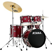 Imperialstar 5-Piece Complete Drum Set with 18 in. Bass Drum and Meinl HCS Cymbals Candy Apple Mist