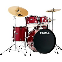 Imperialstar 5-Piece Complete Drum Set with 22 in. Bass Drum and Meinl HCS Cymbals Candy Apple Mist