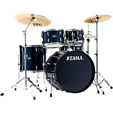 Imperialstar 5-Piece Complete Drum Set with 22 in. Bass Drum and Meinl HCS Cymbals Dark Blue