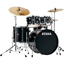 Imperialstar 5-Piece Complete Drum Set with 22 in. Bass Drum and Meinl HCS Cymbals Hairline Black
