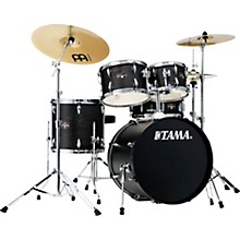 Imperialstar 5-Piece Complete Drum Set with Meinl HCS cymbals and 20 in. Bass Drum Black Oak Wrap