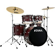 Imperialstar 5-Piece Complete Drum Set with Meinl HCS cymbals and 20 in. Bass Drum Burgundy Walnut Wrap