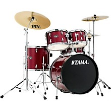 Imperialstar 5-Piece Complete Drum Set with Meinl HCS cymbals and 20 in. Bass Drum Candy Apple Mist