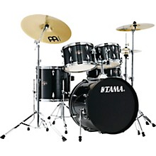 Imperialstar 5-Piece Complete Drum Set with Meinl HCS cymbals and 20 in. Bass Drum Hairline Black