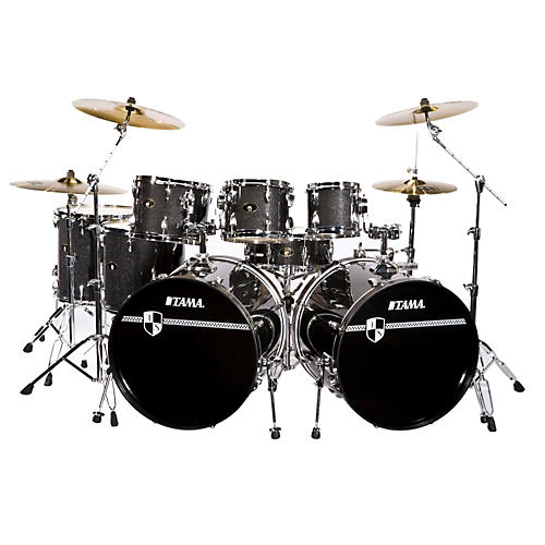 tama imperialstar 8 piece double bass drum set with cymbals guitar center. Black Bedroom Furniture Sets. Home Design Ideas
