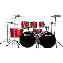 Imperialstar 8-Piece Double Bass Drum Set with MEINL HCS Cymbals Candy Apple Mist