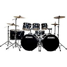 Imperialstar 8-Piece Double Bass Drum Set with MEINL HCS Cymbals Hairline Black