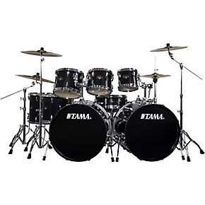tama imperialstar 8 piece drum set with meinl hcs cymbals hairline black guitar center. Black Bedroom Furniture Sets. Home Design Ideas