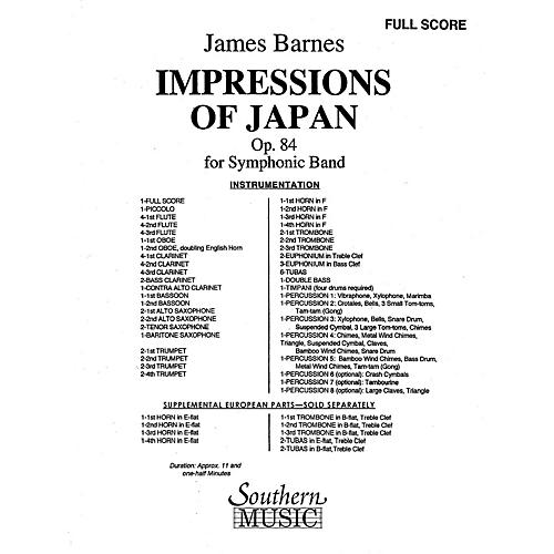 Southern Impressions of Japan Concert Band Level 5 Composed by James Barnes
