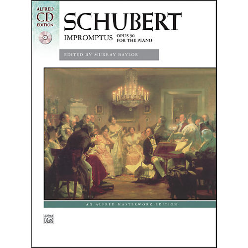 Alfred Impromptus, Op. 90 by Franz Schubert Book & Naxos Label CD