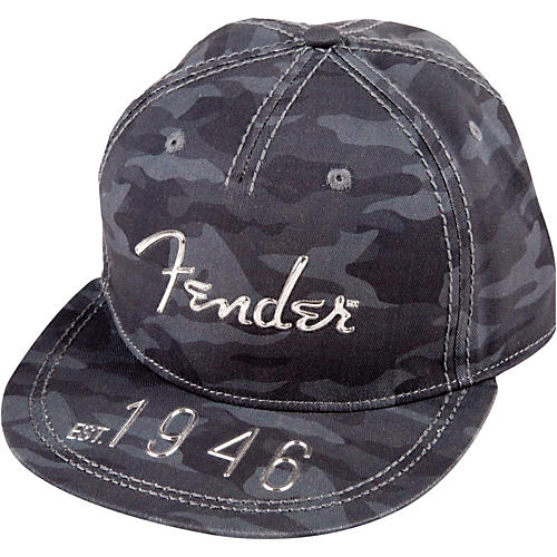 Fender In Hi Def Flat Brim Hat, One Size