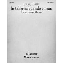 Schott Music In Taberna Quando Sumus (for TTB and Piano) TBB Composed by Carl Orff