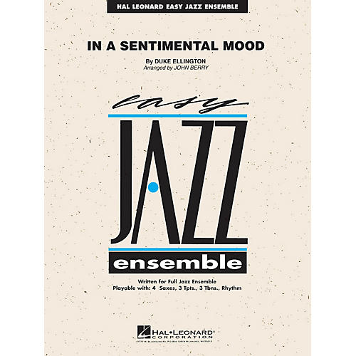 Hal Leonard In a Sentimental Mood Jazz Band Level 2 Arranged by John Berry