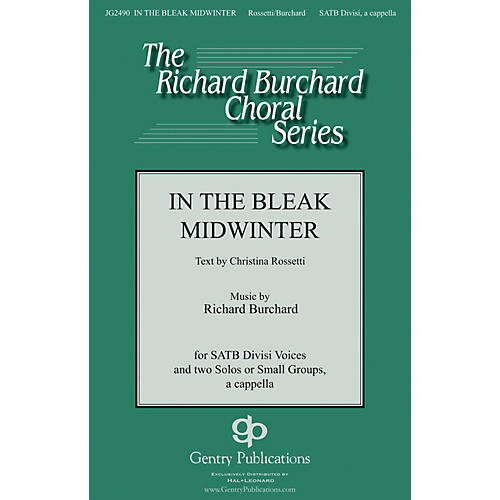 Gentry Publications In the Bleak Midwinter SATB DV A Cappella composed by Richard Burchard