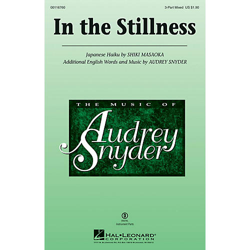 Hal Leonard In the Stillness 3-Part Mixed composed by Audrey Snyder