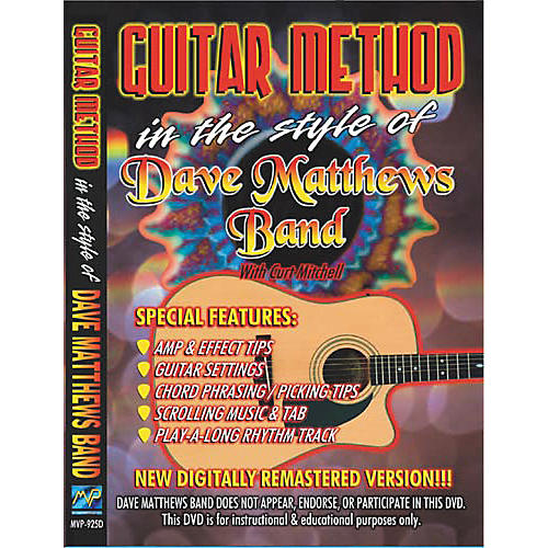 MVP In the Style of Dave Matthews Band (DVD)   Guitar Center