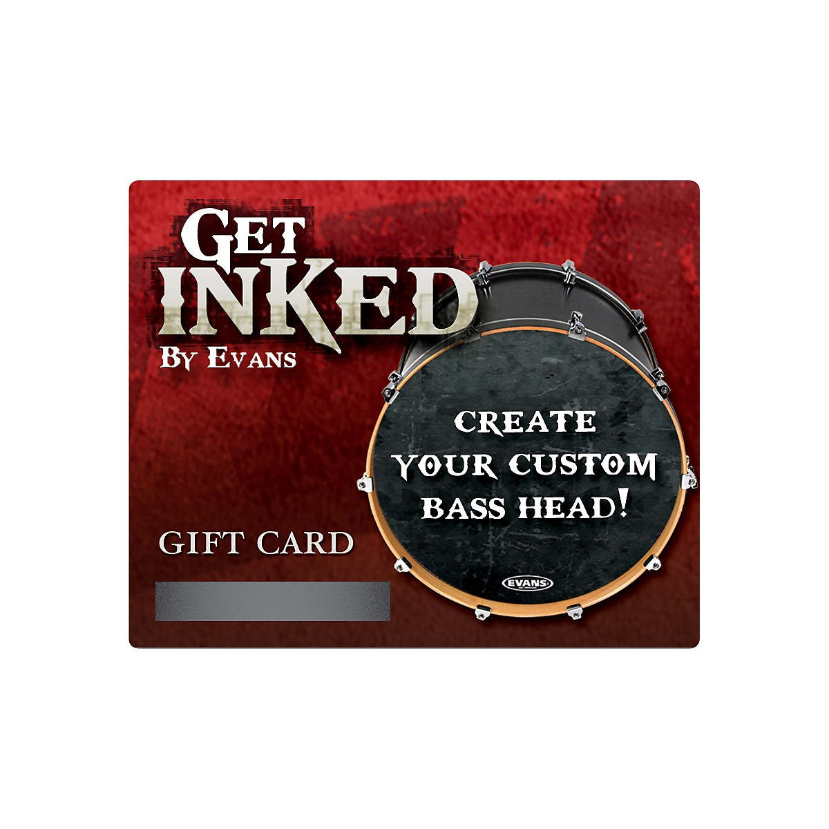 Evans Inked by Evans Custom Bass Head Gift Card