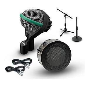 akg inside and outside kick drum mic cable and stand package guitar center. Black Bedroom Furniture Sets. Home Design Ideas