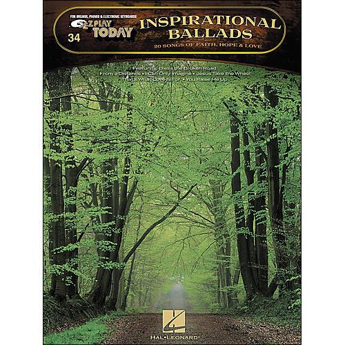 Hal Leonard Inspirational Ballads 20 Songs Of Faith, Hope And Love E-Z Play 34