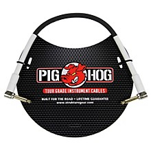 "Pig Hog Instrument Cable 1/4"" Right Angle - 1/4"" Right  Angle (1 ft.)"