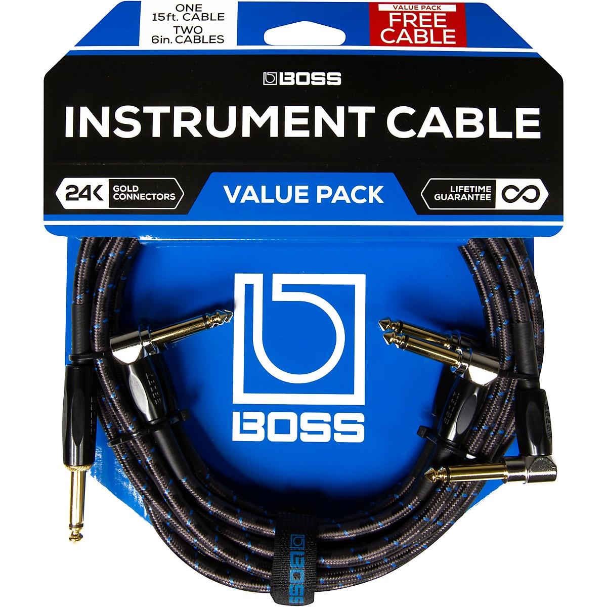 Boss Instrument/Patch Cable Bundle