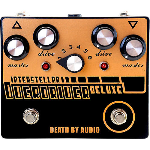Death By Audio Interstellar Overdriver Deluxe Dual Overdrive Noise Effects Pedal