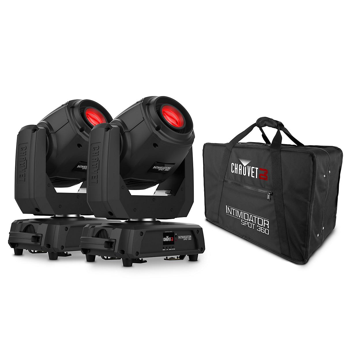 CHAUVET DJ Intimidator Spot 360 LED Spotlight (Pair) with CHS-360 Case
