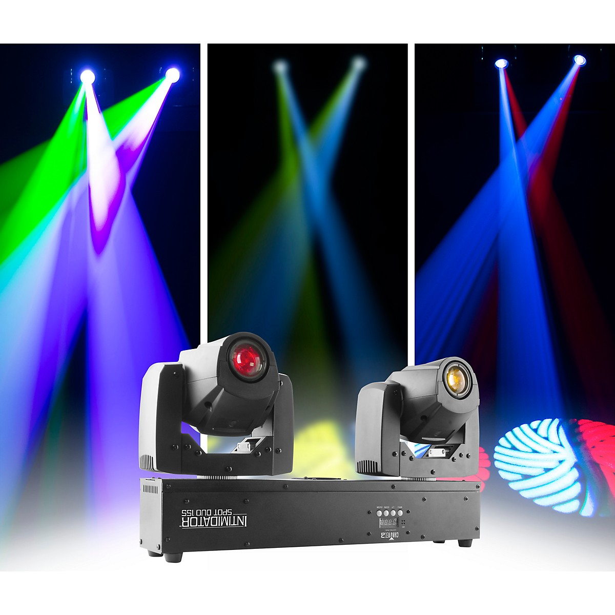 CHAUVET DJ Intimidator Spot Duo 155 Dual Compact LED Moving Heads