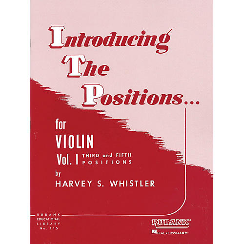 Hal Leonard Introducing The Positions Violin Vol. 1 by Whistler