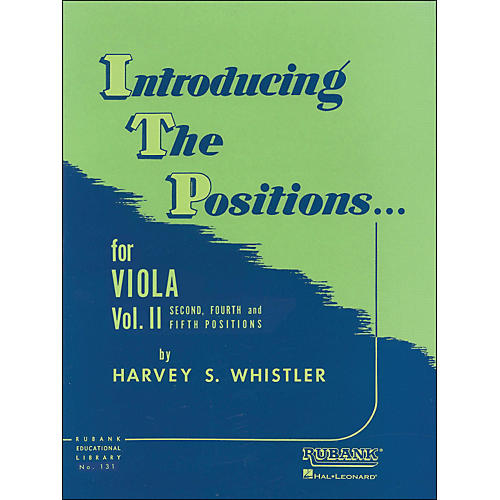 Hal Leonard Introducing The Positions for Viola Vol 2 2nd, 4th & 5th Positions