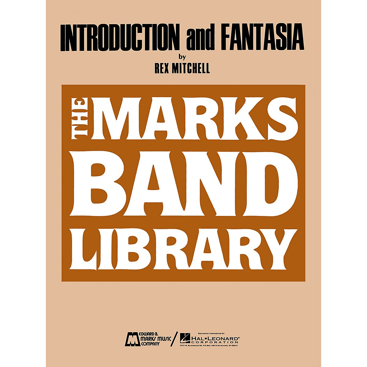 Edward B. Marks Music Company Introduction And Fantasia For Concert Band Full Score Concert Band