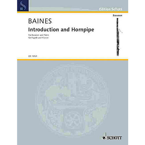 Schott Introduction and Hornpipe (Bassoon with Piano Accompaniment) Schott Series
