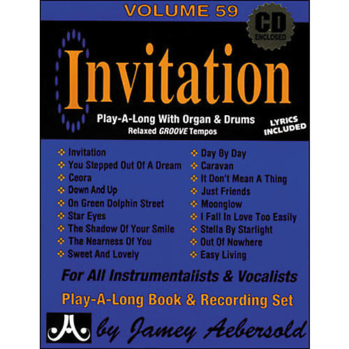 Jamey aebersold invitation book and cd guitar center jamey aebersold invitation book and cd stopboris Image collections