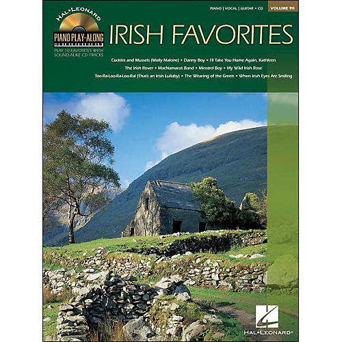 Hal Leonard Irish Favorites - Piano Play-Along Volume 90 (CD/Pkg) arranged for piano, vocal, and guitar (P/V/G)