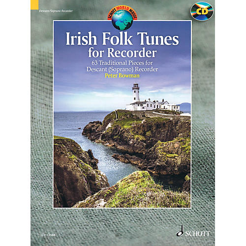 Schott Irish Folk Tunes for Descant Recorder (63 Traditional Pieces) Woodwind Series Softcover with CD