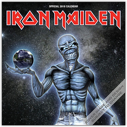 Browntrout Publishing Iron Maiden 2018 Wall Calendar