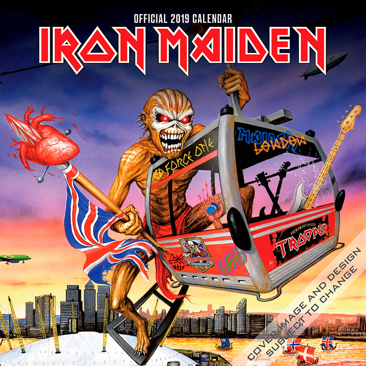 Browntrout Publishing Iron Maiden 2019 Calendar