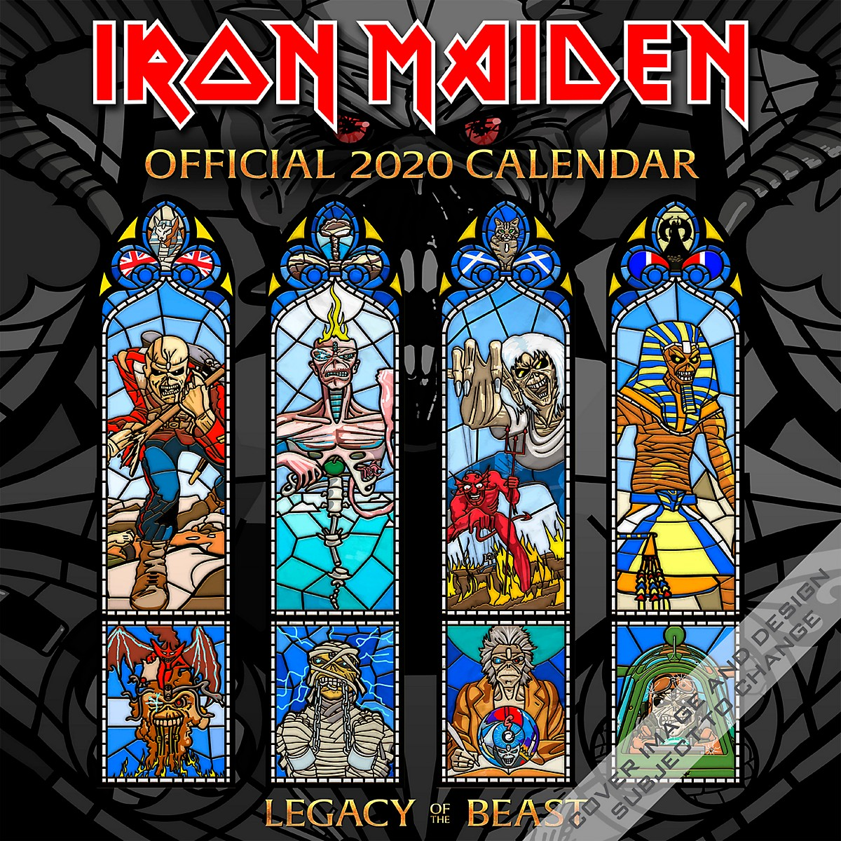 Browntrout Publishing Iron Maiden 2020 Calendar