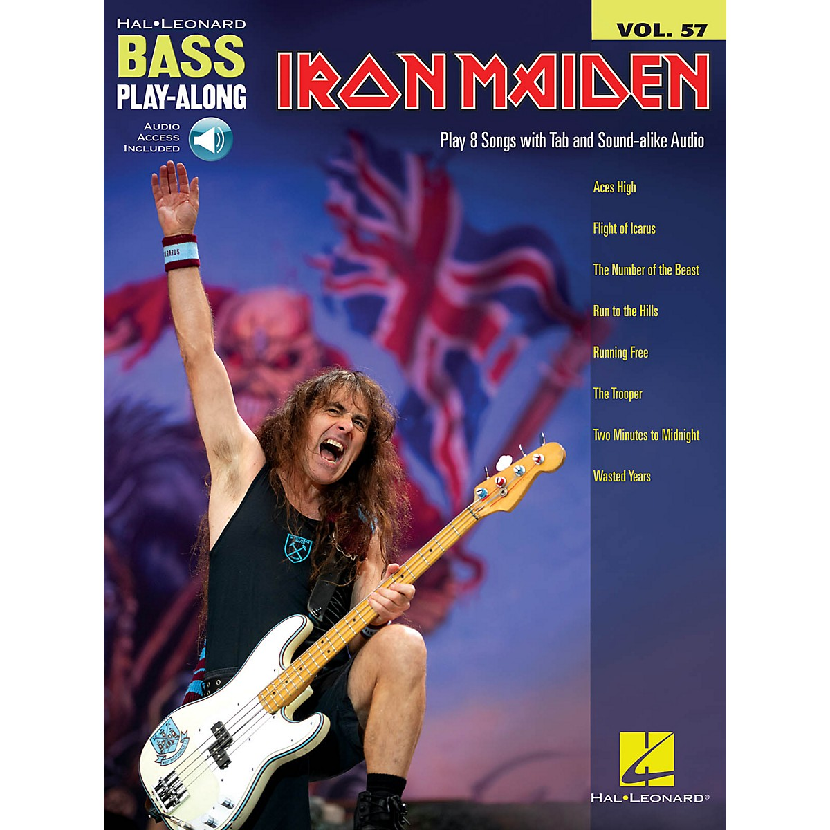 Hal Leonard Iron Maiden Bass Play-Along Volume 57 Book/Audio Online