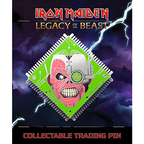 Entertainment Earth Iron Maiden Cyborg Eddie Lapel Pin